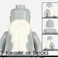 Lego Minifigure WHITE Beard Long Face Hair Castle Kingdoms Pirate Santa