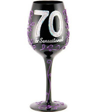 70 And Sensational Lady Party Wine Glass