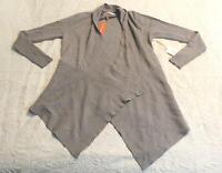 Dreamers Women's Waterfall Cardigan Sweater CD4 Gray Small/Medium NWT