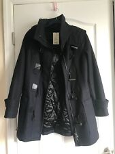 Red Bull Black Hooded Dufflecoat Esha Womens Size 1