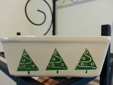 NANTUCKET Ceramic Stoneware Christmas Tree Holiday Mini Loaf Bread Baking Pan