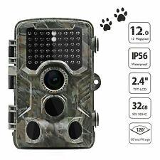 Caméra de Chasse 1080P Cachée Nocturne infrarouge 42LEDs lumières HD Nuit Vision