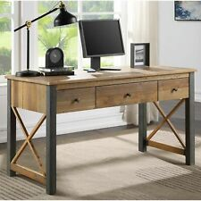Urban Elegance Reclaimed Home Office Furniture Desk with Storage