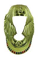 Adult Mens King Tut Headpiece Neck Piece Egyptian Male Pharoah Costume Accessory