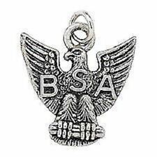 BOY SCOUT LICENSED EAGLE SCOUT BSA METAL SILVER TONE CHARM MOM DAD GIFT NEW