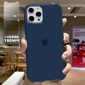 Coque Silicone + Protection Verre Trempé iPhone 13 Pro Max 13 mini 12 11 XR SE 7