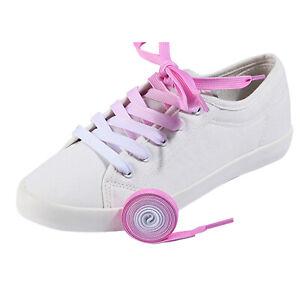 5 Pairs 120cm Rainbow Gradient Shoe Laces Fashion Trainers Replacement Shoelaces