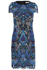 Alice + Olivia Nakia Guipure Lace Dress Blue Size 2 NWOT