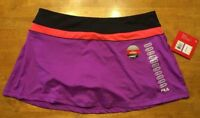 NWT Fila Women's Purple & Black Skort (Short & Skirt Combo) - Size: XXL