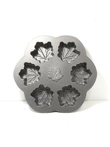 Nordic Ware Cast Aluminum Maple Leaf Cake Mold Muffin Baking Pan - Made in USA