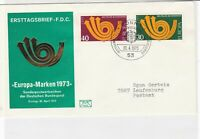germany 1973 europa stamps cover ref 20265