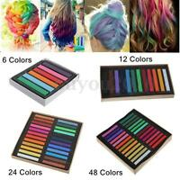 6 12 24 36 48 Colors Non-toxic Temporary Hair Chalk Dye Soft Pastels Salon Kit