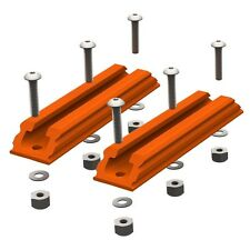 "YakAttack Canoe Kayak 4"" GearTrac GTSL90 Mounting Track - Orange - 2 PK"