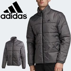 new adidas BASIC 3-STRIPES INSULATED WINTER JACKET men's 2XL gray puffer coat