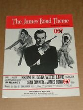 """James Bond """"From Russia With Love"""" 1962 film sheet music (Sean Connery)"""
