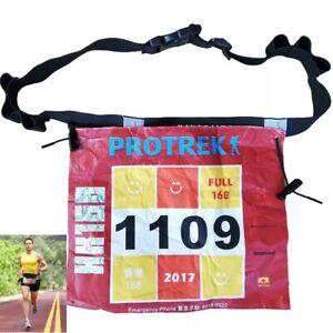 Ultra-tri triathlon /marathon running belt with gel holders & number holder