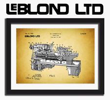 Leblond Engine Lathe Stunning Patent Print On Art Paper