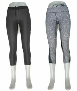 2 Pairs Nike Running Skinny Crop Leggings Womens Sz S Workout Tights