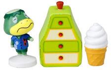 Real Takara Tomy Animal Crossing New Leaf Kapp'n Stamp Figure and Furniture Set