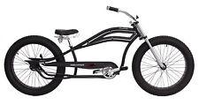 """NEW BICYCLE STRETCH BEACH CRUISER 26"""" x4.0 FAT TIRE MATTE BLACK!"""
