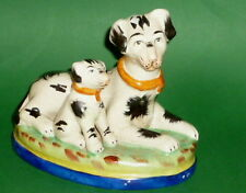 Antique Majolika Ceramic Figure Dog Figurine Dogs Old?