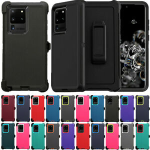 For Samsung Galaxy S20 Plus Ultra 5G Defender Case Cover Belt Clip Fits OtterBox