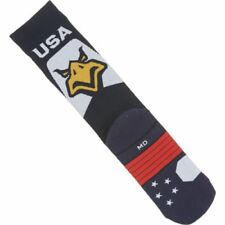 Men Under Armour  Performance Eagle Crew Socks 9 - 12.5 Navy Blue White Red USA