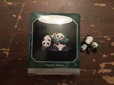 1998 Hallmark Peaceful Pandas Miniature Christmas Tree Ornament