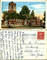 First Presbyterian Church Omaha Nebraska NE antique car bell tower mailed 1927