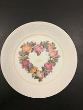 Avon A Bouquet Of Love Porcelain Plate 198 00004000 7 Love Hearts Flowers 7�