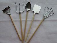 Pack of 5 Miniature Garden Tools Fairy Gardens, Dolls Houses, Embellishments