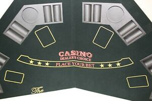 Casino Dealer's Choice Poker Table Top: Octagon, 8 Players, with Cup Holders!