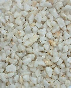 Aquarienkies NATUR Bodengrund Aquarium Kies Deko Steine HELL weiß 5 kg - NEU