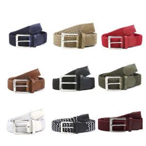 Cintura per unisex Uomo Cinta Donna Intrecciata Elastico tela resistente corda