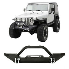 FRONT BUMPER WINCH PLATE D-Ring ROCK CRAWLER For 1986-2006 JEEP TJ YJ Wrangler