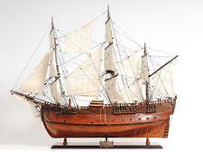"HMS HM Bark Endeavour 38"" Wood Tall Ship Model James Cook's Sailboat New"