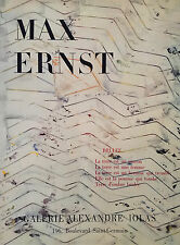 Max Ernst Galerie Alexandre Iolas, Brulee Lithograph Exhibition Poster