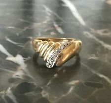 Solid 14k yellow gold 1/10 ctw. Diamond Ring - Size 6 - Wear or Scrap