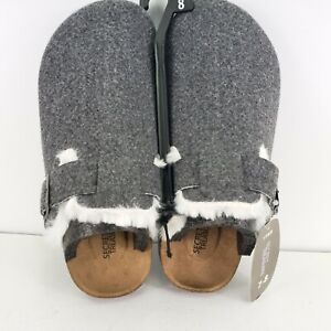 NEW Secret Treasures Womens Clog Slippers Woven Gray Size 5-6