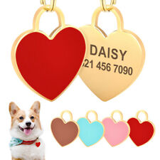 Engraved Pet Id Tags for Dogs Cats Personalized Stainless Steel Dog Name Id Tag