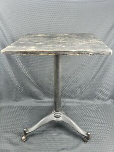 Antique Cast Iron Table Base With Rollers Original