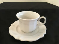 Vintage Red Cliff Ironstone Fine China White Cups and Saucers