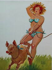 Hilda With Pig by Duane Bryers