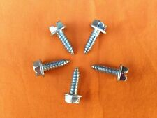 CAR DEALER LICENSE PLATE SCREWS SLOTTED HEX HEAD SELF TAPPING (500 PER Box)