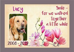 Pet Memorial Picture Your Dog Photo Name, Personalised Tribute Dog Cat any Pet