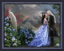 "Nene Thomas Fairy Open Edition Print 8x10"" Lovers Wedding Couple Peacock Volcano"