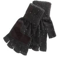$164 RYAN SEACREST Men's GRAY WHITE FINGERLESS KNIT WARM WINTER GLOVES ONE SIZE