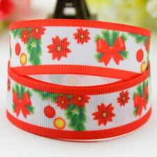 Flower Pattern Ribbon Christmas Decoration Single Face Printed Craft Accessories