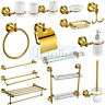 Bathroom Accessories Gold Towel Rail Rack Bar Shelf Soap dispenser Holder Toilet