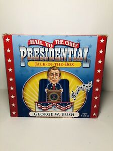 2001 George W Bush Hail to The Chief Presidential Jack-In-The-Box White House